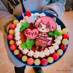 大家族/ケーキデコ/チョコレートケーキ/お誕生日ケーキ/キャラケーキ/手作りケーキ/... 🎂2018.11.23 昨日は、我が家の…