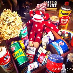 塗料缶/オイル缶/コレクション/ディスプレイ/ガレージ/ジャンクガーデン/... 🇺🇸アメリカ買付 お部屋やガレージでコレ…
