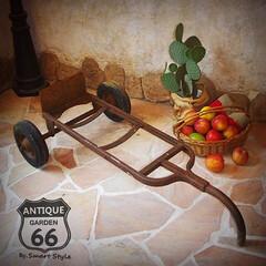 看板スタンド/ジャンクガーデン/カート/荷車/台車/アイアン/... 🇺🇸アメリカ買付 農家の納屋の軒先に置い…