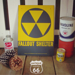 アメリカ空軍/ヴィンテージ アメリカン/看板/核シェルター/ガレージ/世田谷ベース/... 🇺🇸US買付 60's 冷戦時、核シェル…