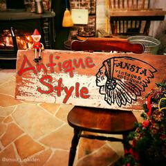 ペイント/古木/古材/アンティークスタイル/イベント/看板DIY/... 社長が拾ってきた いい感じの古材の板に …