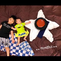 月齢フォト/ベビライフ/おひるねアート/成長記録/おしゃれ ベビー記録 9ヶ月になりました。