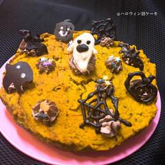 ハロウィン/手作りケーキ/かぼちゃケーキ/ハンドメイド/佐藤家ーキ ハロウィン🎃 皮ごとマッシュした かぼち…