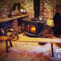 ディスプレイ台/薪ストーブ/ベンチ/木製ベンチ/長椅子/アンスタカタログ/... 🇺🇸アメリカ買付、 アンティークの木製ベ…