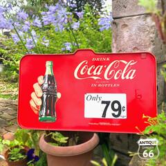 プラスチック製/ヴィンテージ看板/アンスタカタログ/アンスタ/アンティークスタイル/アメリカンヴィンテージ 🇺🇸アメリカ買付 コカコーラのプラスチッ…