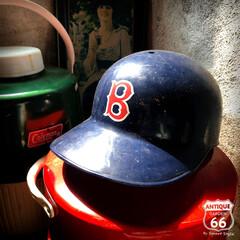 """ヴィンテージ/ヘルメット/野球/レッドソックス/アンスタ/アメリカ買付/... 🇺🇸アメリカ買付  """"Boston Re…"""