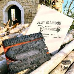 ヴィンテージ文具/古道具/アンティークスタンプ/アンティークスタイル/アンスタカタログ/アンスタ/... 🇺🇸アメリカ買付 木製ハンドルのアンティ…