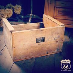 引き出し/ウッドドロワー/見せる収納/おもちゃ箱/アンティークショップ/アンティーク木箱/... 🇺🇸アメリカ買付け アンティークのウッド…(1枚目)