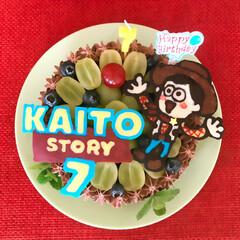 佐藤家ーキ/バースデーケーキ/キャラケーキ/手作りケーキ/誕生日会/ハンドメイド 🎂 我が家の ⑤番め坊やお誕生日。🎉 ▫…