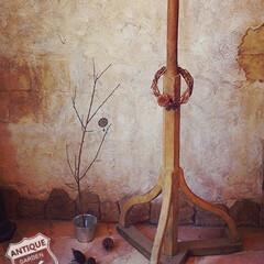 木組み/職人技/ディスプレイスタンド/店舗什器/木製ポール/木製台座/... 🇺🇸アメリカ買付 木組みと木製のビスのみ…
