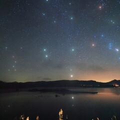 北海道/ふくろう湖/夜景/星景/星空 Midnight rendezvous …