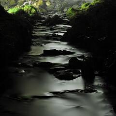 川/滝/夜/アシリベツの滝 The Black