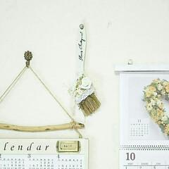 流木/カレンダー/ハケリメイク/DIY/雑貨/インテリア/... 使用後の刷毛リメイク(*^^*) (1枚目)
