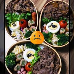 お弁当🍱 オクラが高くてびっくり💦 インゲンの肉巻…(1枚目)