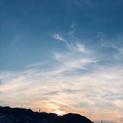 雲/空/フォロー大歓迎 日が もうすぐ🎶沈みます