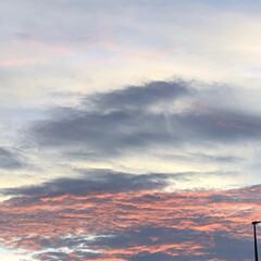 夕焼け/雲/空/フォロー大歓迎 朝から、お墓参りに 行って そのまま 熊…