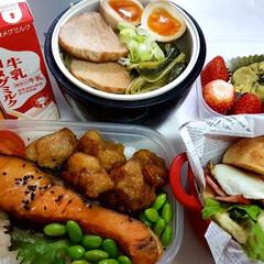部活弁当/高校男子お弁当 おはようございます 本日のお弁当 ①➡焼…