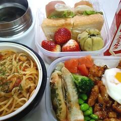 ウェイトアップ/部活弁当/高校男子お弁当 おはようございます 本日のお弁当 ①➡焼…(1枚目)