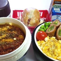 部活弁当/高校男子弁当/フォロー大歓迎/わたしのごはん 本日のお弁当 ①➡いんげん肉巻き、入り卵…