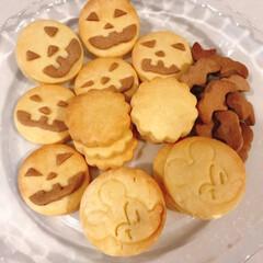 手作り焼き菓子/クッキー🍪/ハロウィン/セリア ハロウィンバージョンのクッキーをつくり、…
