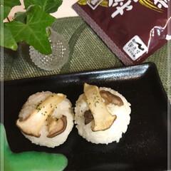 おにぎり/松茸風味/エリンギ/秋 松茸ごはん(○´ヮ`○)/風 我が家に松…