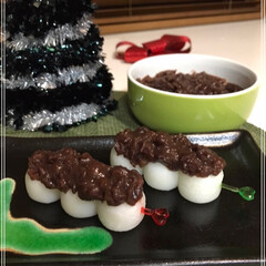 あんこ/お団子/クリスマス/クリスマスツリー/スイーツ/おうちごはん/... あんこ団子~🎶  またたくさんあんこ作り…