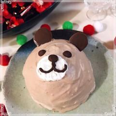 シャトレーゼ/バースデーケーキ/くまさんケーキ/ドームケーキ/お正月2020/ダイソー/... Birthdayくまさんドームケーキ🐻 …(2枚目)