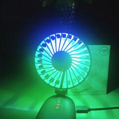 グラデーションライト/クリップ付き扇風機/充電/パソコン/USB/扇風機/... 私のオススメ~(≧∇≦*) クリップ付き…(3枚目)