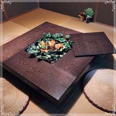 囲炉裏テーブル/囲炉裏/ローテーブル/リミアの冬暮らし/我が家のテーブル/リミアな暮らし/... 18年前に新築に合わせて購入したテーブル…