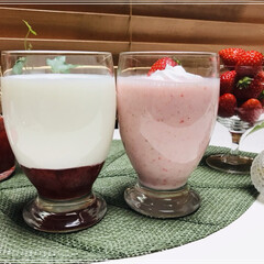 いちごミルク/いちご/LIMIAごはんクラブ/わたしのごはん/おうちごはんクラブ/スイーツ いちごドリンク🍓 いちごソースと牛乳の2…