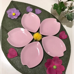 さくら/桜の花びら/食器/フォロー大歓迎/キッチン雑貨/雑貨/... 明日はひな祭り🌸  ですが何も考えていま…