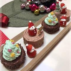 Xmasケーキ/いちごサンタ/ブッシュ・ド・ノエル/クリスマス/クリスマスツリー/おうちごはんクラブ/... 我が家にも クリスマスがやってきた~(*…(3枚目)