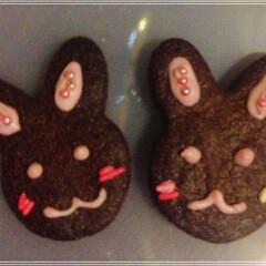 クッキー ココアクッキー♪ うさぎクッキー♪ いち…