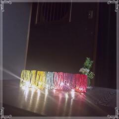 照明/和室/苔玉/ボンド/麻紐/ダイソー/... 我が家の照明✨  お気に入りの和室 ダー…