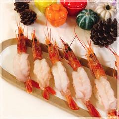 赤えび/赤えび握り/握り寿司/次のコンテストはコレだ!/フォロー大歓迎/節約 大好きな生えび♡ スーパーで赤えび🦐買っ…(2枚目)