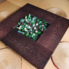 ローテーブル/和室/さくら/フォロー大歓迎/ひな祭り/ピンク/... 和室にさくら🌸が咲きましたぁ(*ˊᗜˋ)…