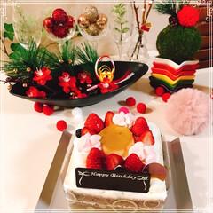 シャトレーゼ/バースデーケーキ/くまさんケーキ/ドームケーキ/お正月2020/ダイソー/... Birthdayくまさんドームケーキ🐻 …(4枚目)