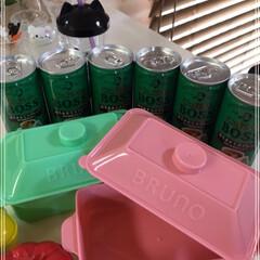 サントリーコーヒーボス/boss/BRUNO/ランチボックス/サントリー伊右衛門特茶/おべんとくちゃ/... BRUNOランチボックス ピンクとグリー…