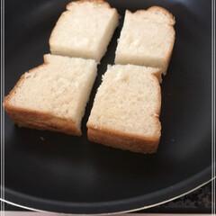 食パン/トースト/ワンプレート/モーニング 休日のモーニング♪  休日最高(○´ヮ`…(2枚目)