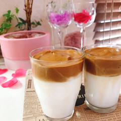 コーヒー/牛乳/ダルゴナコーヒー/limiaキッチン同好会/ハンドメイド/暮らし/... ダルゴナコーヒー🎶  流行りに乗って作り…