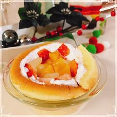 ドームケーキ/雪だるまケーキ/雪だるま/ツリーケーキ/チョコレート/ホイップクリーム/... 雪だるまケーキ☃️  ブッシュドノエルの…(4枚目)