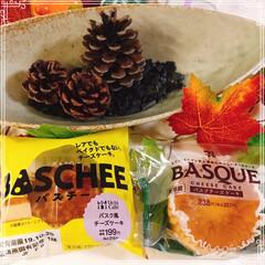 バスク風チーズケーキ/LAWSON/バスクチーズケーキ/セブンイレブン 流行りに乗って食べ比べしました(*ˊᗜˋ…