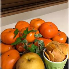 干し柿/次郎柿/柿/梨/秋/100均/... 干し柿作ってます٩(*´◒`*)۶♡ 美…
