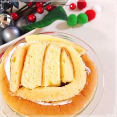 ドームケーキ/雪だるまケーキ/雪だるま/ツリーケーキ/チョコレート/ホイップクリーム/... 雪だるまケーキ☃️  ブッシュドノエルの…(5枚目)