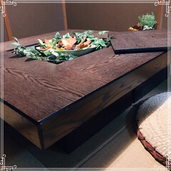 囲炉裏テーブル/囲炉裏/ローテーブル/リミアの冬暮らし/我が家のテーブル/リミアな暮らし/... 18年前に新築に合わせて購入したテーブル…(2枚目)
