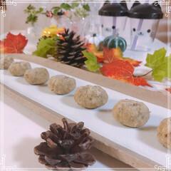 秋の食材/栗/栗きんとん/100均/フォロー大歓迎/節約/... 栗きんとん~整列🌰🌰🌰🌰🌰🌰🌰  茹でて…