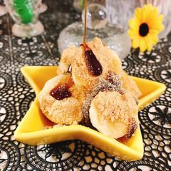 黒蜜きなこバナナ/黒蜜/きな粉/星型お皿/AEON/バナナ/... 3時のおやつ 前回投稿した黒蜜たら~りわ…