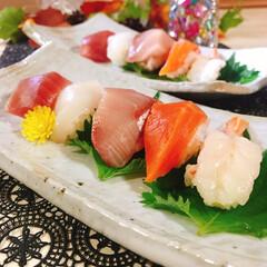 お刺身/にぎり寿司/お寿司 握り寿司が好き(≧∇≦*)  1皿(5貫…
