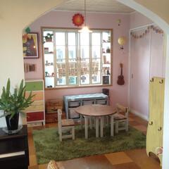 キッズルーム/キッズスペース/子供部屋/子ども部屋/アーチ/アーチ垂れ壁/... DIYで作ったアーチの垂れ壁。 懐かしい…