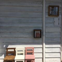 椅子 /子供椅子/花台/DIY/住まい 手作りの子供椅子。 椅子としてだけじゃな…(2枚目)